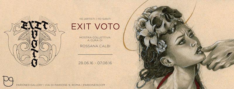 110 artisti | 110 santi Exit Voto mostra collettiva a cura di Rossana Calbi