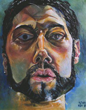 autoritratto-07-olio-su-tela-40-x-35-cm-2007-yaridg-painting