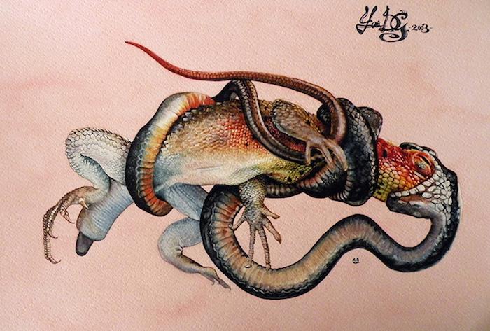 fame-acquerello-su-carta-cotone-30-5-x-45-5-cm-2003-yaridg-painting