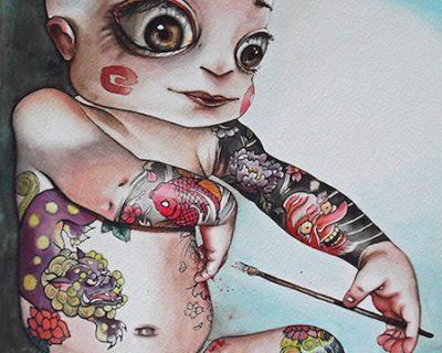 happy-boy-acquerello-su-carta-cotone-45-5-x-30-5-cm-2013-yaridg-illustration
