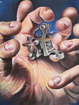iron-hand-olio-su-tela-54-x-50-cm-2013-yaridg-painting
