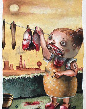 schizzi-umani-4-acquerello-su-carta-cotone-45-5-x-30-5-cm-2011-yaridg