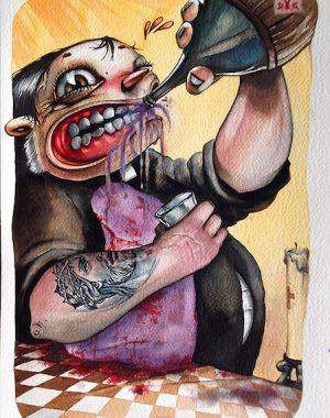 schizzi-umani-6-acquerello-su-carta-cotone-45-5-x-30-5-cm-2011-yaridg