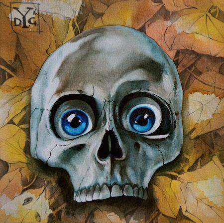 AutumnGothic acquerello 20x20cm 2016